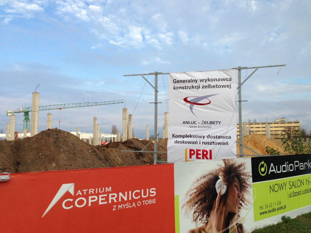 GH Copernicus w Toruniu etap B 100% prac żelbetowych